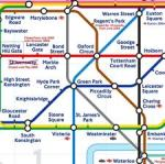 Part of the London Tube map