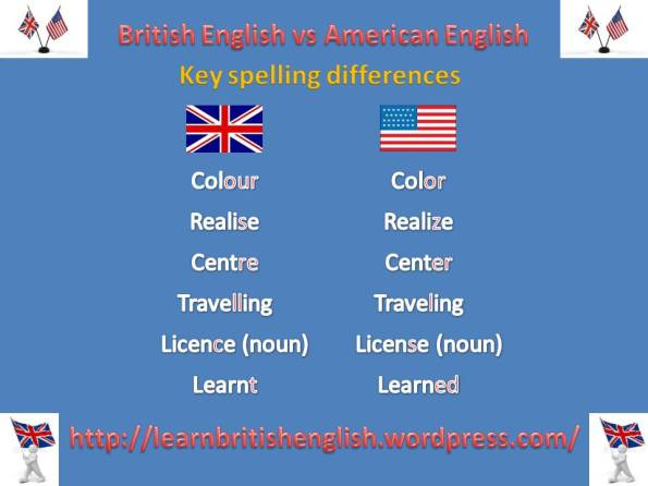 British English vs American English key spelling JPEG