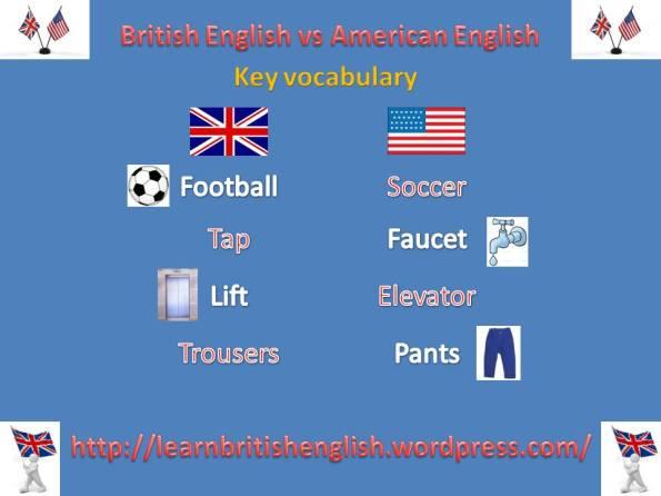 British English vs American English key vocabulary JPEG | Learn ...