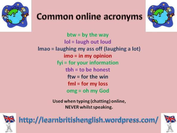 Common online acronyms JPEG